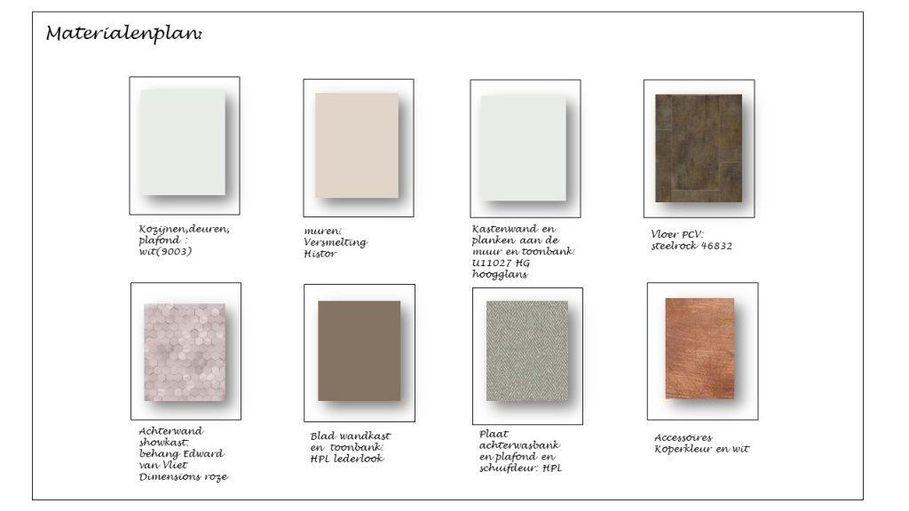 materialenplan kleuradvies schoonheidssalon Erp