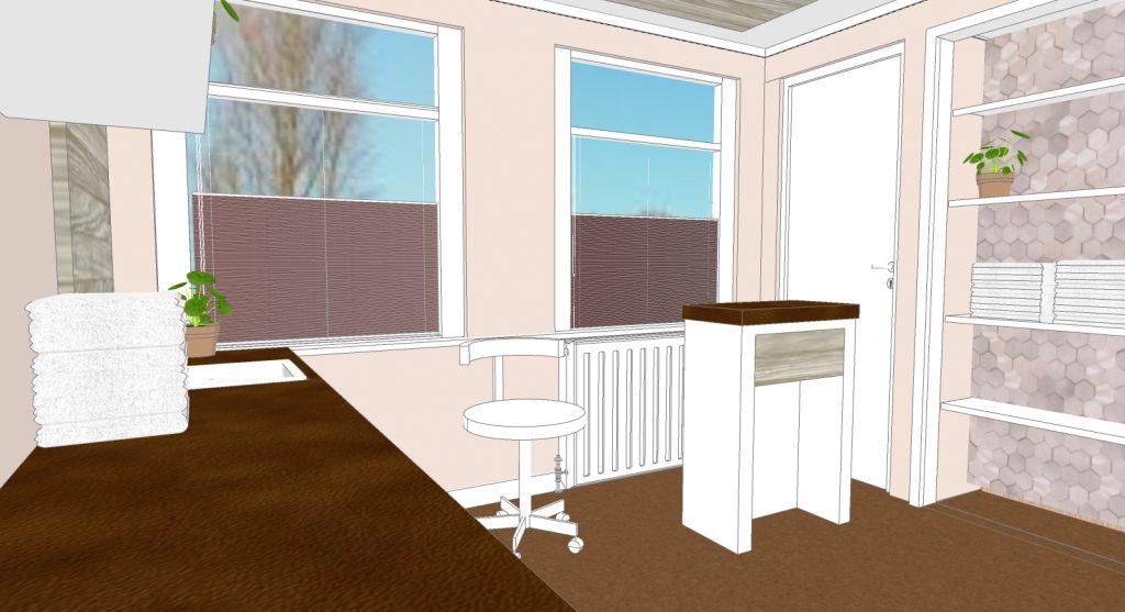 3d visualisatie interieuradvies Erp schoonheidssalon