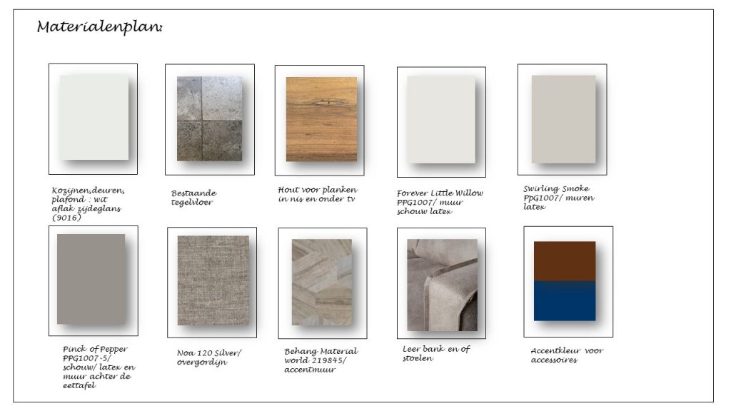 Materialen en kleurenplan interieuradvies Nuenen Gerwen