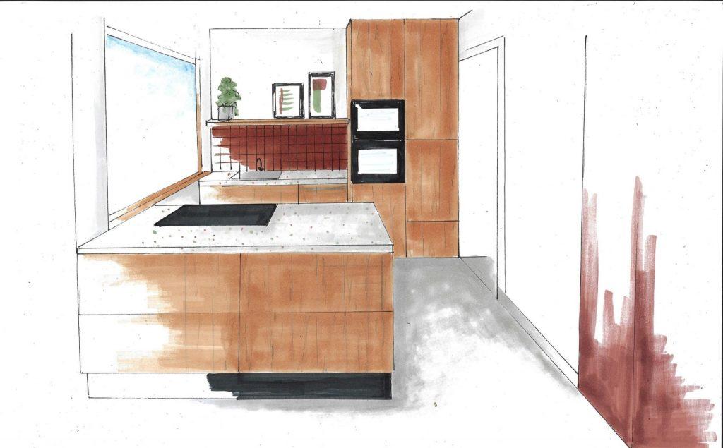perspectief keuken 1 interieuradvies Handel