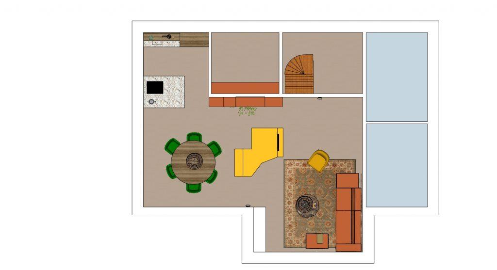 plattegrond 3D interieuradvies Handel