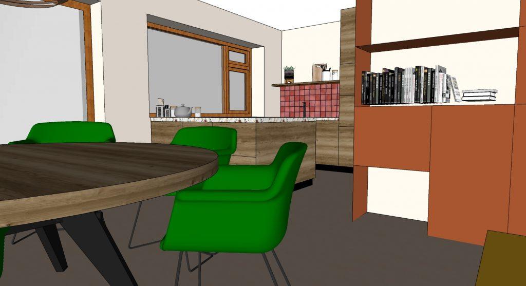 keukenaanzicht 3D interieuradvies Handel